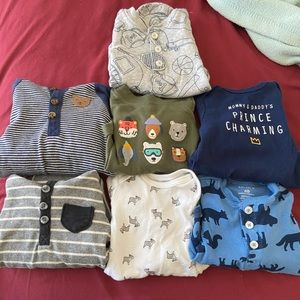 CARTERS bundle of 12 boys newborn onesies!